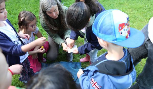 Auf der Suche nach Insekten, Kräutern und verschiedenster Pflanzen begaben sich große und kleine Interessierte an verschiedenen Tagen auf das Außengelände der AWO Kita Crengeldanz