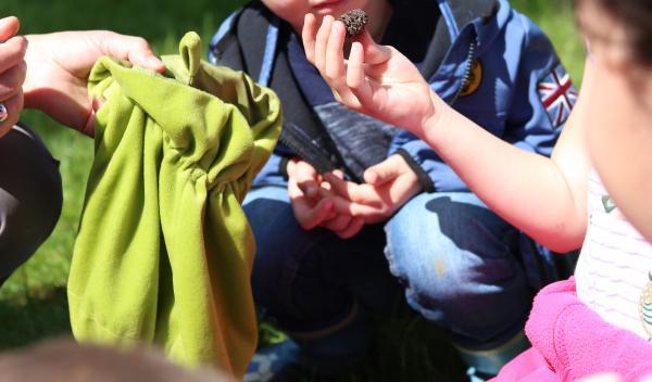 Gemeinsam die Natur wieder neu kennen lernen ist das Ziel dieser Aktionen. Suchen, riechen, schmecken mit allen Sinnen die Natur erleben.